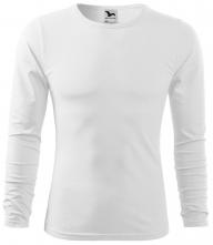 Tričko Malfini Fit-T LS bavlna 160 g dlhý rukáv okrúhly priekrčník pánske biele
