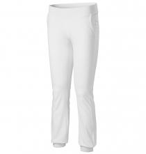 Nohavice Malfini Leisure Pants 200 dámske elastický materiál BA/elastan široký pružný pás biele
