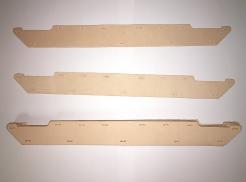 Potný pásik pravá koža Schuberth kríž I/79 + I/80 okolo prilby svetlo hnedý