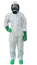 Kombinéza PartiGuard® Puntiform 65 g/m2 Typ 5 a 6 kapucňa krytý zips stiahnuté rukávy a nohavice biela