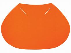Plachetka k prilbe E-MAN, C6, E6, RANGER textilné chráni tylnu oblasť svietivo oranžová