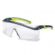 Okuliare UVEX ASTROSPEC 2.0 Supravision Excellence zorník odolný proti poškriabaniu a zahmlievaniu čierno/limetkový rám číre