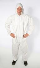Kombinéza PROPGUARD SMS kapucňa krytý zips stiahnuté rukávy a nohavice typ 5,6 NC biela