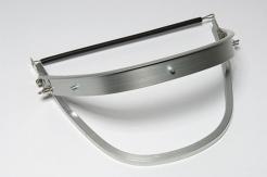 Držiak štítu Universal (FH66) hliníkový výklopný na prilby Rockman Voss Protector Las Schuberth strieborny