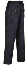 Nohavice PW Action do pásu zapínanie na zips zateplené zosilnená kolená s vreckom tmavo modré