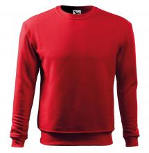 Mikina Essential 300 pánska BA/PES elastický úplet manžety priekrčník spodný lem červená
