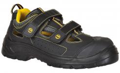 Obuv Compositelite Tagus ESD S1P SRC sandál nubukový zvršok suché zipsy vetranie čierno/žltá