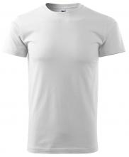 Tričko Basic krátky rukáv okrúhly priekrčník 100% bavlna 160g biele