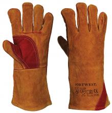 Rukavice PW Premium Weld zváračské celokožené dlhé zosilnená dlaň a palec kvalitná hovädzina hnedé