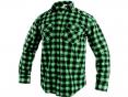 Košeľa CXS TOM flanelová bavlnená kockovaná dlhý rukáv zelená
