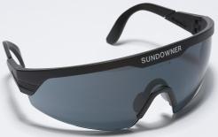 Okuliare PROTECTOR SUNDOWNER čierny rám nastaviteľné stráničky protislnečné tónovaný zorník sivý