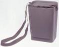 Pevné plastové puzdro SCOTT pre celotvárové masky s vekom a ramenným popruhom sivé