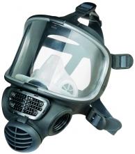 Celotvárová maska SCOTT PROMASK Black bočné pripojenie filtra čierna