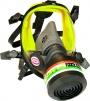 Celotvárová maska SCOTT VISION 1000 predné pripojenie filtra čierna silikónová lícnica