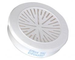 Filter Honeywell P3 pre rad dýchacích masiek a polomasiek 5500 a 7700 proti prachu a časticiam so závitom biely