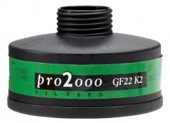 """Filter K2 so závitom 40mm x 1,7 """"proti čpavku pre masky a dýchacie prístroje"""