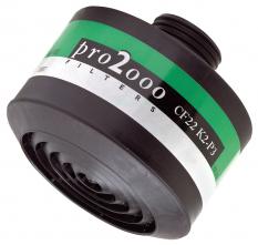 """Filter K2P3 R D so závitom 40 mm x 1,7"""" proti čpavku časticiam baktériám vírusom zelenobiely prúžok"""