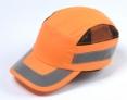 Čiapka so škrupinou PROTECTOR FBC+ HC22HV vystužená protinárazová vetracie boky šilt 7 cm reflexné pruhy HV oranžová