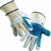 Rukavice MAGPIE hovädzia štiepenka kombinované zosilnené v dlani a na ukazováku sivé