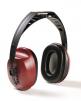 Mušľové chrániče sluchu Hellberg EH8 upevnenie cez temeno fialovo/čierne