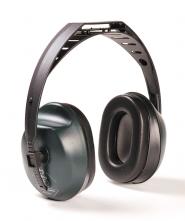 Mušľové chrániče sluchu Hellberg EH 10 upevnenie cez temeno zeleno/čierne