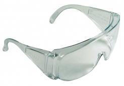 Okuliare CERVA BASIC celoplastové ochrannej zosilnené bočnice vhodné pre návštevníkov číre