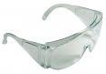 Okuliare CERVA BASIC celoplastové ochranné zosilnené bočnice vhodné pre návštevníkov číre