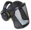 Ochranný tvárový štít Hellberg SECURE SAFE 1 s chráničmi sluchu Secure 2 dĺžka 200 mm nylonová mriežka