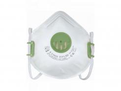 Respirátor OXY 310 SV FFP3V tvarovaný zelený výdychový ventil jednotlivo balený opakovateľne použiteľný biely
