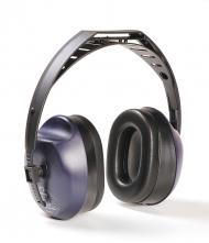 Mušľové chrániče sluchu Hellberg EH 12 upevnenie cez temeno modro/čierne