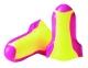 Tlumící zátky HOWARD LEIGHT LASER LITE paměťová PU pěna jednotlivě balené v sáčku žltočervené