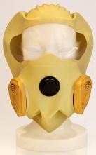 Požiarna úniková dýchacia ochranná maska DURAM COGO elastická kukla s čírym priezorom a filtrom ABEKP-CO žltá