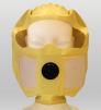 Úniková maska DURAM KIMI elastická kukla s čírym priezorom a filtrom proti chemickým výparom a časticiam ABEKP žltá