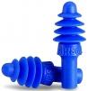 Tlmiace zátky HOWARD Leight AIRSOFT mäkký plast tesniace lamely priehľadná krabička bez šnúrky modré