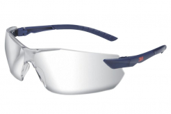 Okuliare 3M 2820 ochranné nezahmlievajúce neškrábavé nastaviteľné sivo/čierne pružné stráničky s gumovým koncom číre