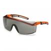 Okuliare UVEX ASTROSPEC 2.0 Supravision Excellence priezor proti slnku odolný proti poškriabaniu oranžovo/čierny rámik sivé