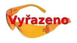 Okuliare C4 atraktívne polykarbonátové nastaviteľné oranžové