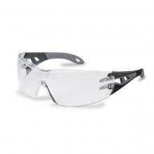 Okuliare UVEX PHEOS Supravision Plus čierno/sivý rám veľkoplošný zorník nezahmlievajúce nepoškrabateľné číre