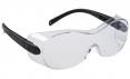 Ochranné okuliare PW OVERSPEC dvojzorníkové cez dioptrické okuliare čierne straničky číre