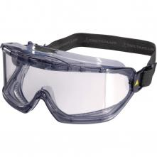 Okuliare DELTA PLUS Galeras panoramatický polykarbonátový zorník nezahmlievajúce ventilačné otvory textilná guma číre
