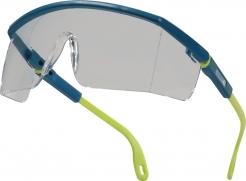 Okuliare DELTA Kilimandjaro nepoškrabateľné nárazuvzdorné jednozorníkové cez okuliare žlto/modrý rámček číre