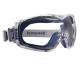 Ochranné uzavreté okuliare Honeywell DURAMAXX mäkká tesniaca línia textilná guma šedo/modrý rámček HC/AF číre