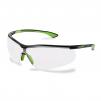 Okuliare UVEX Nový SPORTSTYLE Supravision Excellence rámček limetkovo/čierny nezahmlievajúce sa nepoškriabateľné číre