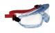 Okuliare HONEYWELL V-MAXX uzavreté neventilované nezahmlievajúce mäkká tesniaca línia upínanie pomocou textilnej gumy číre