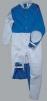 Ochranná pracovná kombinéza pre pieskovačov materiál koža/textil sivá veľkosť 54