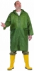 Plášť Cerva CETUS s kapucňou PES/PVC raglánové rukávy trojštvrťový vodeodolný zelený