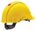 Prilba PELTOR 3M™ G3000 senzor 3M™ Uvicator™ EX vystúpený zosilnený vrchlík s ventilačnými otvormi račňa žltá