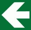 Tabuľka Symbol smerová šípka bielo/zelená
