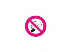 Samolepka Symbol Zákaz fajčenia bez textu štvorcová 14x14cm červeno/bielo/čierna