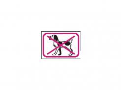 Samolepka Zákaz vstupu so psom symbol bez textu 150x105mm červeno/bielo/čierna